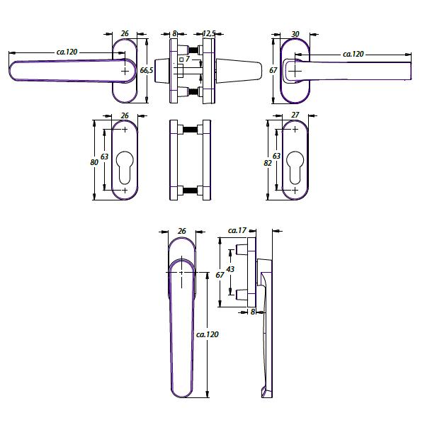 keysis shop dieckmann balkont rgarnitur mit einseitig dr cker. Black Bedroom Furniture Sets. Home Design Ideas